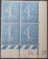 R1934/144 - 1926 - TYPE SEMEUSE LIGNEE - N°205 TIMBRES NEUFS** CdF Daté - ....-1929
