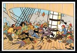CP Tintin : Editions Hergé/Moulinsart Sundancer N° 018 ( Recto-Verso ) - Bandes Dessinées