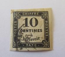 France - Timbre Taxe 10c Noir YT N°2 Oblitéré - Postage Due