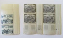 France - Poste Aérienne - Coin Daté 16/12/1949 Avec 4 Timbres 1000f YT N°29 + Bloc De 500f YT N°20 - Neufs - Forte Cote - Coins Datés