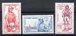 ININI - YT N° 48 à 50 - Neufs ** - MNH - Cote 7,80 € - Inini (1932-1947)