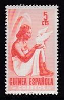TIMBRE NEUF DE GUINEE ESPAGNOLE - SERIE COURANTE 1953 : FEMME INDIGENE ET COLOMBE N° Y&T 346 - Guinea Spagnola