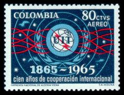 Colombia, 1965, ITU Centenary, International Telecommunication Union, United Nations, MNH, Michel 1061 - Colombie