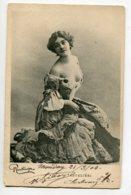 ARTISTE 1067 Natalina Lina CAVALIERI Portrait   Au Décolleté Plongeant EROTISME   1904   Photog REUTLINGER - Opéra
