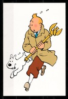 CP Tintin : Editions Hergé/Moulinsart N° 099 ( Recto-Verso ) - Bandes Dessinées