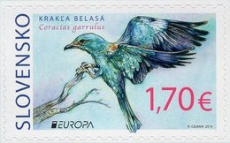 Slovakia - 2019 - Europa CEPT - National Birds - European Roller - Mint Self-adhesive Booklet Stamp - Slovaquie