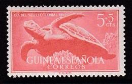 TIMBRE NEUF DE GUINEE ESPAGNOLE - TORTUE DE MER (JOURNEE DU TIMBRE COLONIAL 1954) N° Y&T 359 - Tortues
