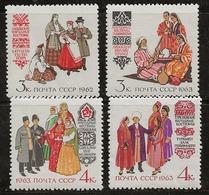 Russie 1962-1963 N° Y&T :   2621 à 2624 ** - 1923-1991 URSS