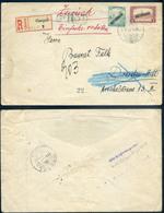 CSEPEL 1919.  Expressz-ajánlott, Cenzúrázott, Felbontott, Drezdából Visszaküldött Levél. Érdekes Darab! - Hongarije