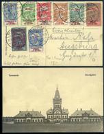 TEMESVÁR 1915. Ajánlott Képeslap , Dekoratív Hadi Segély  8 Bélyeges Bérmentesítéssel Augsburgba Küldve - Hongarije