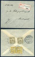BUDAPEST 1906. Helyi Ajánlott Levél 2*6 +2*2f Bérmentesítéssel - Hongarije