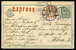 PÉCS 1915. Expressz Díjjegyes Levlap Bécsbe Küldve - Hongarije