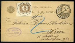 ZÁGRÁB 1900.03. 2Kr-os Díjjegyes Levlap Bécsbe Küldve, Portózva - Strafport