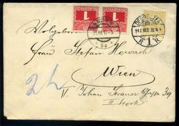 DEBRECEN 1912. Levél Bécsbe Küldve, Portózva - Strafport