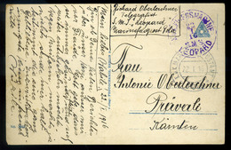 K.u.K. Haditengerészet, I.VH Képeslap S.M.S. Leopárd Bélyegzéssel - Brieven En Documenten