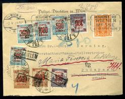 1925. Levél Ausztriából Budapestre Küldve Dekoratív Kettős,inflációs Portózással   /  Letter From Austria To Budapest De - Hongarije