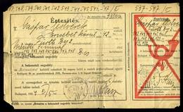 BUDAPEST 1924. Értesítés Németországból érkezett 11 Csomaghoz Szükséges Behozatali Engedély Szükségességéről 33000K-s Po - Hongarije