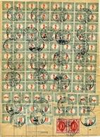 REZSŐHÁZA 1921. Csomagszállítóhoz Tartozó  Pótlap(?) Kétnyelvű Feladóvevénnyel Egy Zimonyba Küldött Küldeményről, 95 Db  - Hongarije
