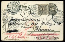GYŐR 1899. Egy Képeslap, Burgenlandi és Felvidéki Vándorlása, Többszörös Továbbküldéssel, Portózással. Szép! - Hongarije