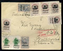 GYÖNGYÖS 1946.08.08. Levél Az Infla-forint átmeneti Napokból! Adópengős Okmány Bélyeges Bérmentesítéssel Budapestre Küld - Hongarije