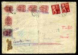 KECSKEMÉT 1945. 06. Cenzúrázott Levél Budapestre Küldve, Vegyes Portózással, érdekes Darab!  /  Cens. Letter To Budapest - Hongarije