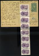 BUDAPEST 1946.02. Díjjegyes Levlap Szentistvántelepre Küldve 4000P Portózással , 8*500P Okmány Bélyegekkel!! Inflációs,p - Hongarije