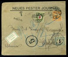BUDAPEST 1904. Céges Levél 3f-rel Svájcból Visszaküldve, Kettős Portózással, Látványos Darab!  /  Corp. Letter 3f Return - Hongarije