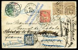 GÖLNICBÁNYA 1900. Képeslap Belgiumból Visszaküldve, újrabérmentesítés Után Franciaországból Is Visszaküldve! Portózásokk - Strafportzegels