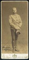 """RUSSIA OROSZORSZÁG 1893. Katona Portré, """"Wladimir"""" Szép Cabinet Fotó - Andere"""