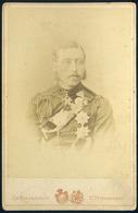 RUSSIA OROSZORSZÁG 1895. Cca. Bargamasco : Katona Portré Cabinet Fotó - Foto's