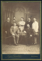 NYITRA 1880. Cca. Lőger Gusztáv : Ismeretlen Férfiak, Szép Cabinet Fotó - Andere