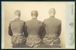 KRAKKÓ 1900. Katonák, 2db érdekes, Szatírikus Cabinet Fotó, Aláírásokkal, Jó Darabok! - Foto's
