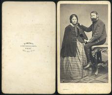 PEST 1860.ca. Simonyi : Ismeretlen Pár, Ritka Visit Fotó - Andere