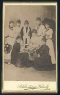 BALASSAGYARMAT 1890. Cca. Szkladányi Károly : Ismeretlen Hölgyek, Ritka és érdekes Visit Fotó ( Monográfiában Nincs Adat - Andere