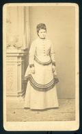 EGER 1870. Ca. Záhor Lipót : Ismeretlen Hölgy, Ritka Visit Fotó, Szép Darab Lásd Leírás - Andere