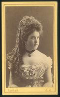ARAD 1870-75. Auerbach Miksa : Ismeretlen Hölgy, Szép Visit Fotó - Foto's