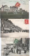 CPA 009- LUC SUR MER (14) Les Hotels--St AUBIN SUR MER (14) La Digue --QUINEVILLE (50) Les Chalets Rive Gauche - Carentan