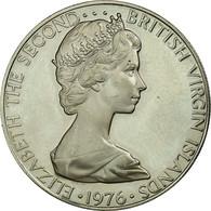 Monnaie, BRITISH VIRGIN ISLANDS, Elizabeth II, 25 Cents, 1976, Franklin Mint - Islas Vírgenes Británicas