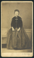 ZIMONY/SEMLIN 1865.ca Hermann Watzek : Ismeretlen Hölgy, Visit Fotó, Ritka Gyűjteménybe Való Darab! - Foto's