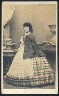 POZSONY 1860-65. Kozics Ede: Koós Ida (békei) 1836-1914. Szép Visit Fotó - Foto's