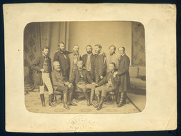 PEST 1856-60. Cca. Mayer György : Társaság, Férfiak, Régi Fotó 17*12cm  /  Group Of Men Vintage Photo 17*12 Cm - Andere