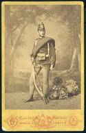 """PEST 1865-70. Ca. Katona Portré , Szép Cabinet Fotó """"Keller Bácsi"""" - Andere"""