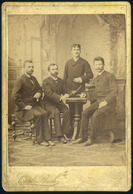 GYULAFEHÉRVÁR 1890. Bach Károly : Férfiak, Cabinet Fotó - Andere