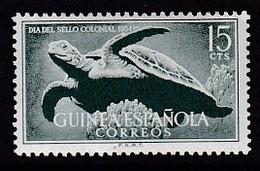 TIMBRE NEUF DE GUINEE ESPAGNOLE - JOURNEE DU TIMBRE COLONIAL 1954 (TORTUE DE MER) N° Y&T 361 - Journée Du Timbre