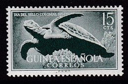 TIMBRE NEUF DE GUINEE ESPAGNOLE - JOURNEE DU TIMBRE COLONIAL 1954 (TORTUE DE MER) N° Y&T 361 - Dag Van De Postzegel