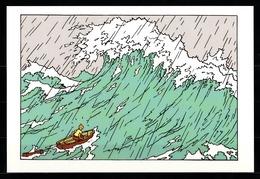 CP Tintin : Editions Hergé/Moulinsart Sundancer N° 002 ( Recto-Verso ) - Bandes Dessinées
