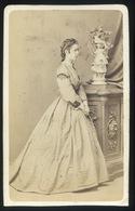 PEST 1860-65. Canzi és Heller : Ismeretlen Hölgy,  Visit Fotó - Andere