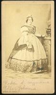 PEST 1860-65.  Borsos és Doctor : Pollák Johanna,  Visit Fotó - Andere