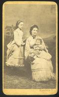 BUDA 1870. Cca.Kirschner V. : Ismeretlen Hölgy,  Visit Fotó - Andere
