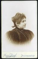 BESZTERCEBÁNYA 1890. Cca. Anner József : Ismeretlen Hölgy, Visit Fotó - Andere